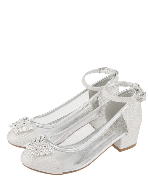 Larissa Butterfly Princess Shoe, Silver (SILVER), large