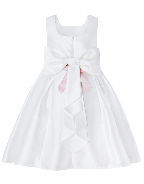 Pearl Duchess Occasion Dress in Recycled Polyester, Ivory (IVORY), large