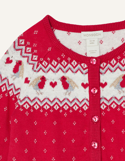 Baby Robin Cardigan , Red (RED), large