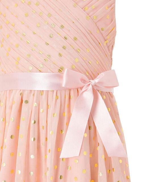 Mabel Gold Spot Wrap Dress, Pink (PINK), large