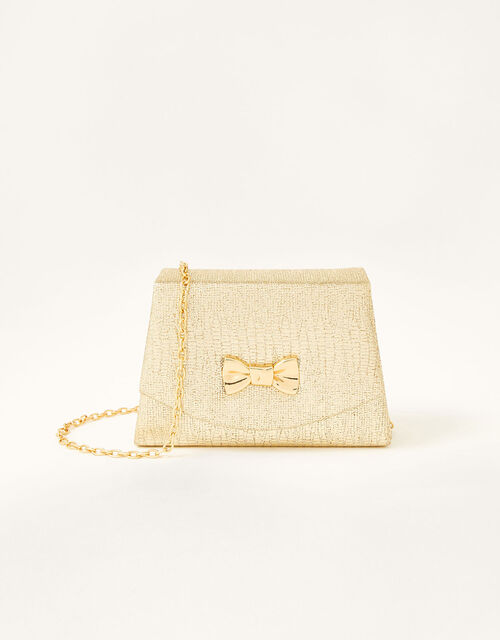 Diamante Croc Turnlock Bag , , large