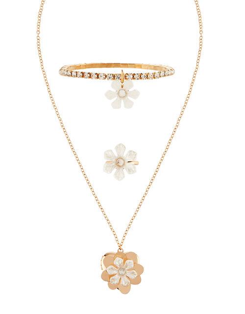 Daisy Locket, Bracelet and Ring Set, , large