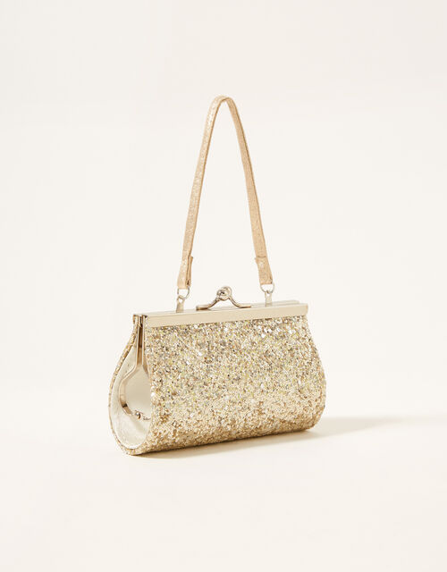 Mixed Glitter Bow Mini Bag, , large