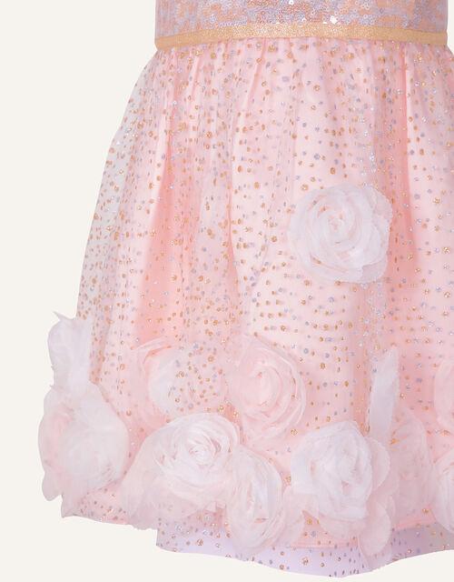 Baby 3D Flower Sequin Dress, Pink (PINK), large