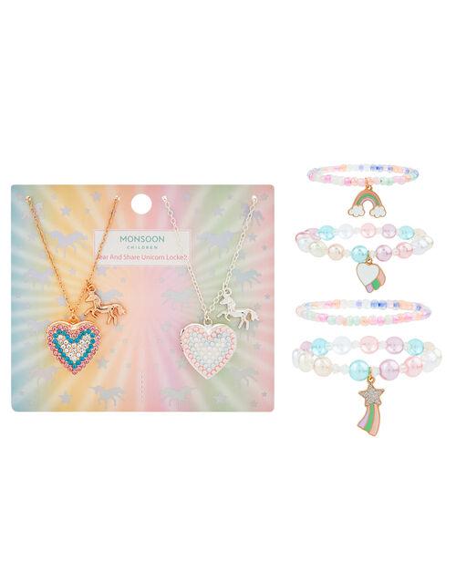 Unicorn Friendship Locket and Bracelet Set, , large