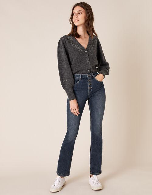 Bootcut Denim Jeans, Blue (DENIM BLUE), large
