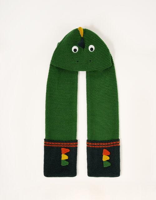Stewie Dino Hat Scarf , Green (GREEN), large