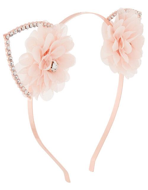Gemima Sparkle Cat Ear Headband, , large