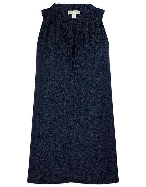 Jacquard Cami Top, Blue (NAVY), large