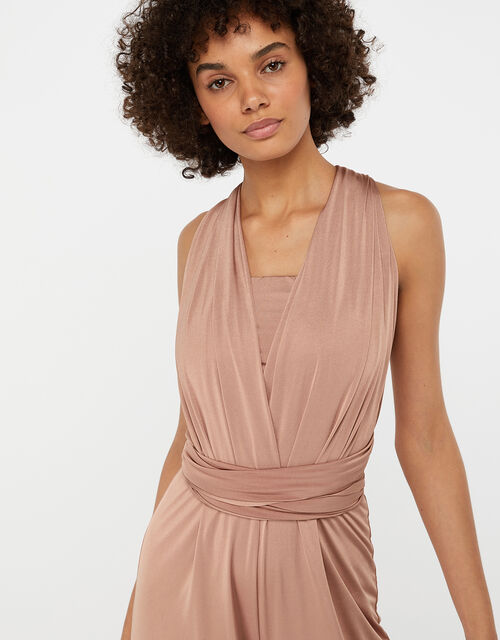 Taylor Twist Me Tie Me Bridesmaid Jumpsuit, Pink (PINK), large