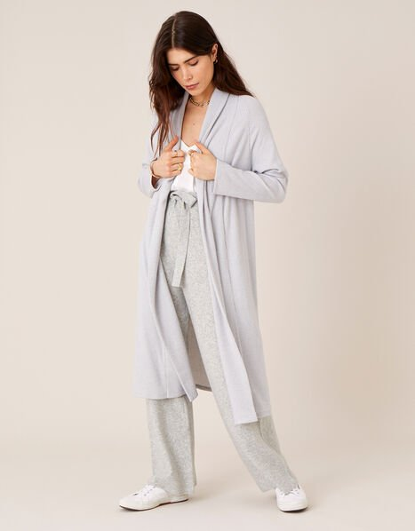 LOUNGE Ellie Midi Cardigan Grey, Grey (GREY), large