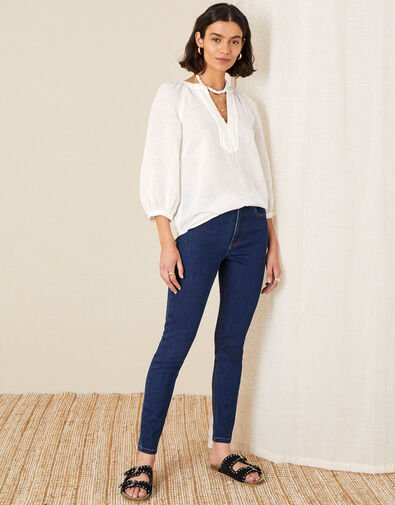Iris Regular-Length Skinny Jeans Blue, Blue (BLUE/BLACK), large