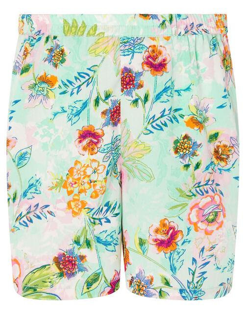 Bessie Floral Vest and Shorts Set, Blue (BLUE), large