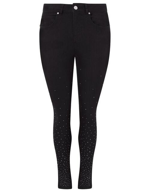Nadine Sparkle Leg Jeans with Organic Cotton, Black (BLACK), large