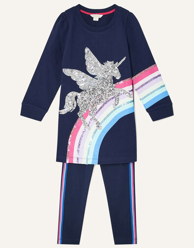 Pegasus Rainbow Sweat Set  Blue, Blue (NAVY), large