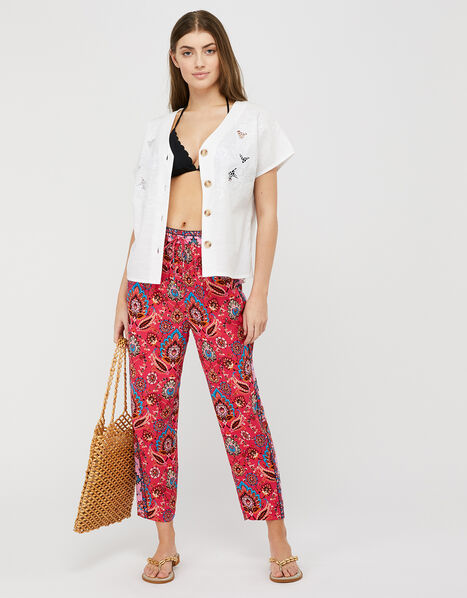 Tamalia Printed Trousers in LENZING™ ECOVERO™ Pink, Pink (PINK), large