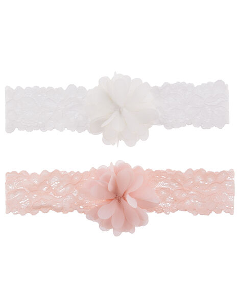 Baby Flower Pom-Pom Bando Set, , large