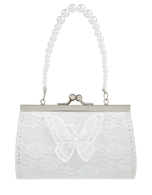 Lace And Pearl Butterfly Mini Bag, , large