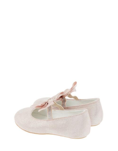 Baby Lottie Shimmer Satin Bow Walker Shoes, Pink (PINK), large