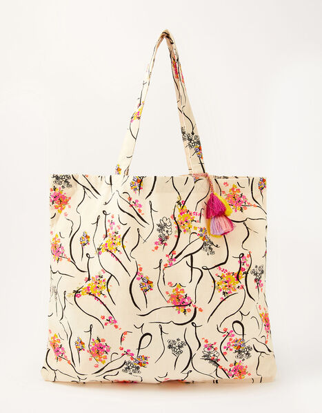 Lady Garden Printed Shopper Bag Organic Cotton, , large