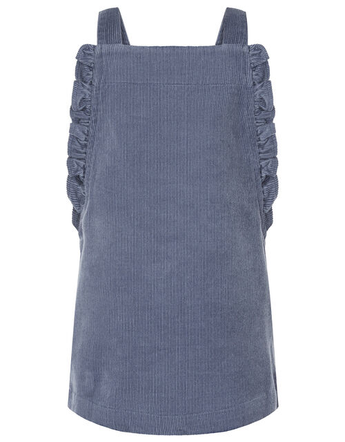 Baby Bunny Cord Pinafore Dress Set, Blue (BLUE), large