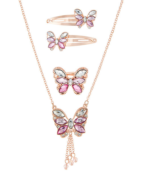 Jewelled Butterfly Accessory Set, , large