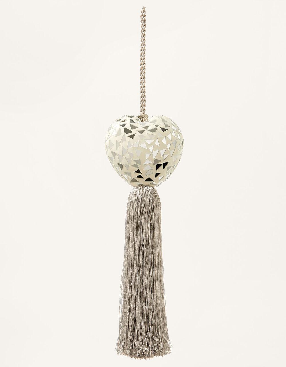 Heart Door Tassel, Grey (GREY), large