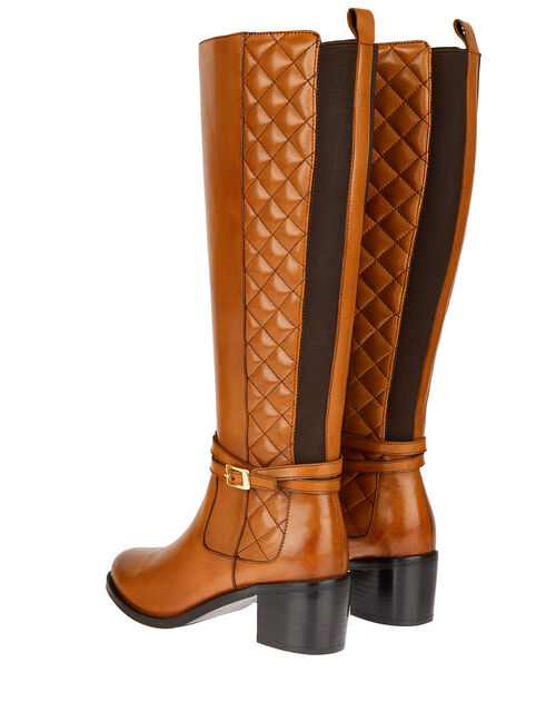 Leather Riding Boots, Tan (TAN), large