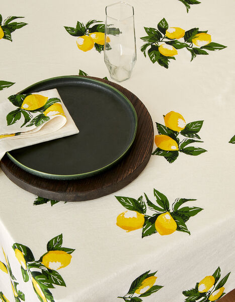 Lemon Print Tablecloth, , large