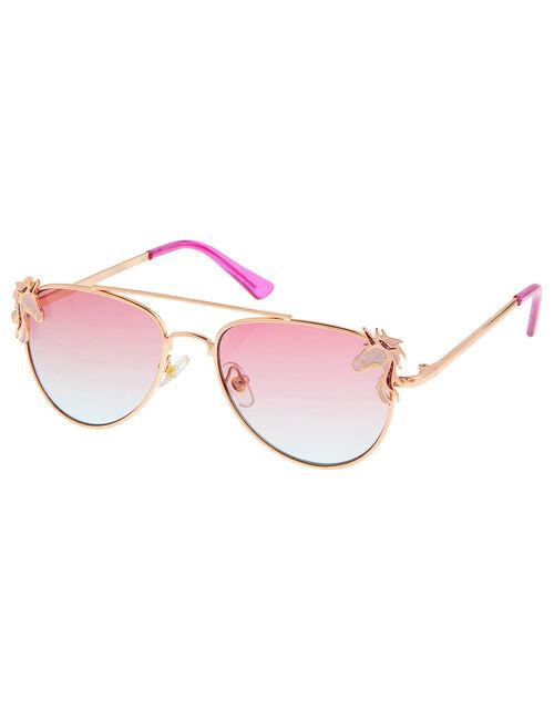 Narla Unicorn Aviator Sunglasses , , large