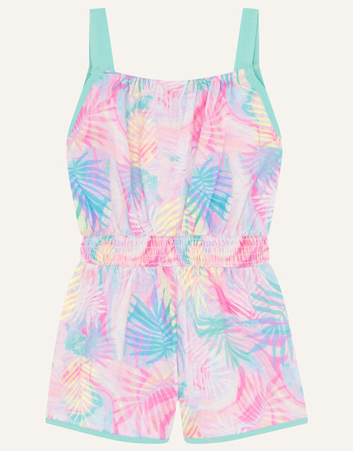 Active Palm Print Playsuit , Pink (PINK), large