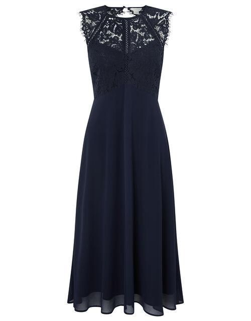 Morgane Lace Short Bridesmaid Dress, Blue (NAVY), large