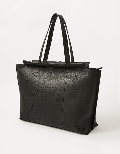 Work Leather Tote Bag, , large