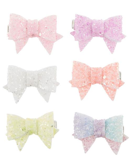 Rainbow Bowtique Hair Clip Set, , large