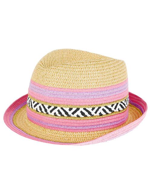 Storm Stripe Trilby Hat, Multi (MULTI), large