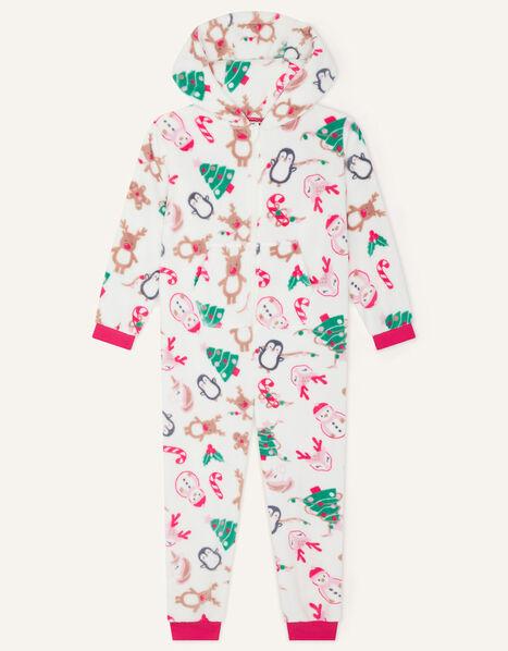 Christmas Chunky Sleepsuit Ivory, Ivory (IVORY), large