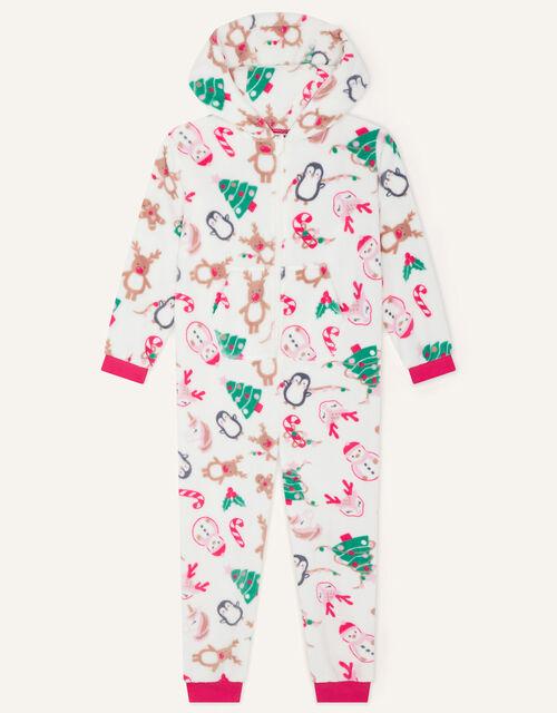 Christmas Chunky Sleepsuit, Ivory (IVORY), large