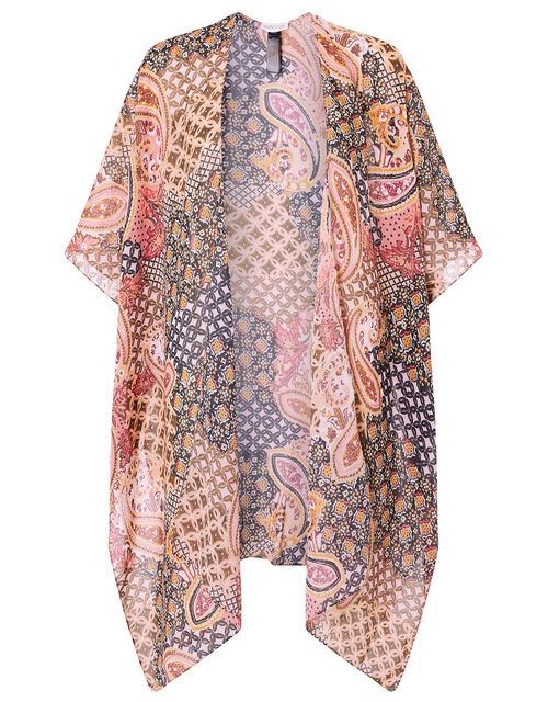 Heritage Print Longline Cover Up, , large