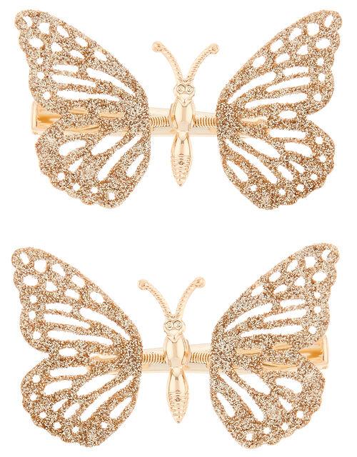 Glinda Glitter Butterfly Hair Clips, , large