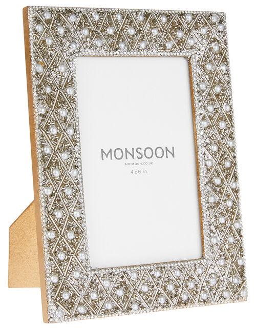 Embellished Pearl Photo Frame, , large