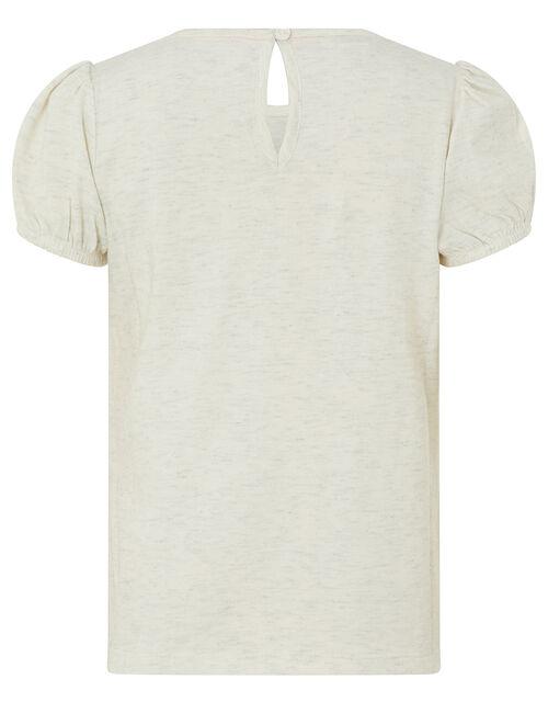 Unicorn Pinata Shimmer T-Shirt, Ivory (IVORY), large