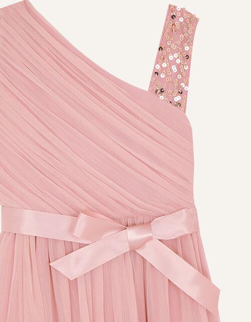 Sequin One-Shoulder Dress, Pink (PINK), large
