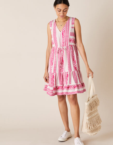 Woven Jacquard Dress Pink, Pink (PINK), large