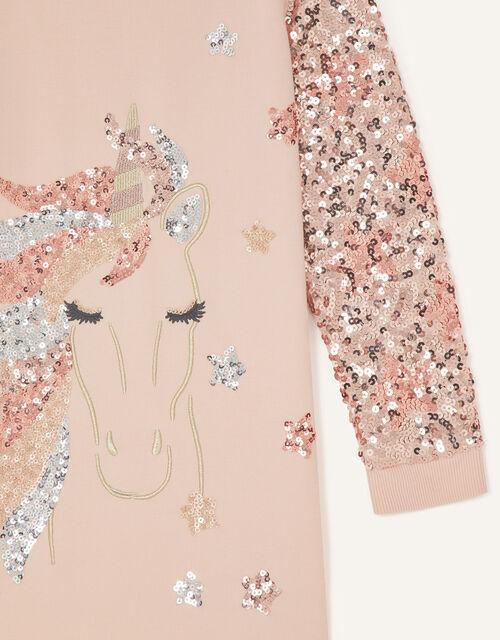 Sparkle Unicorn Sweat Tunic , Pink (PINK), large
