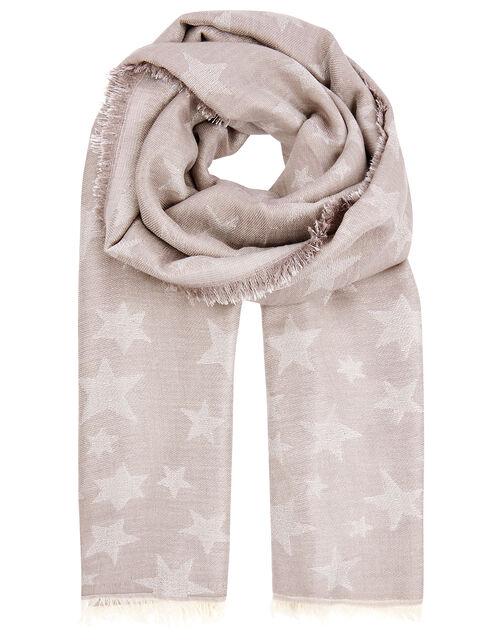 Star Jacquard Blanket Scarf, , large