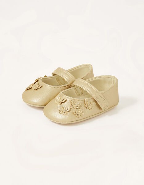 Butterfly Booties Gold, Gold (GOLD), large