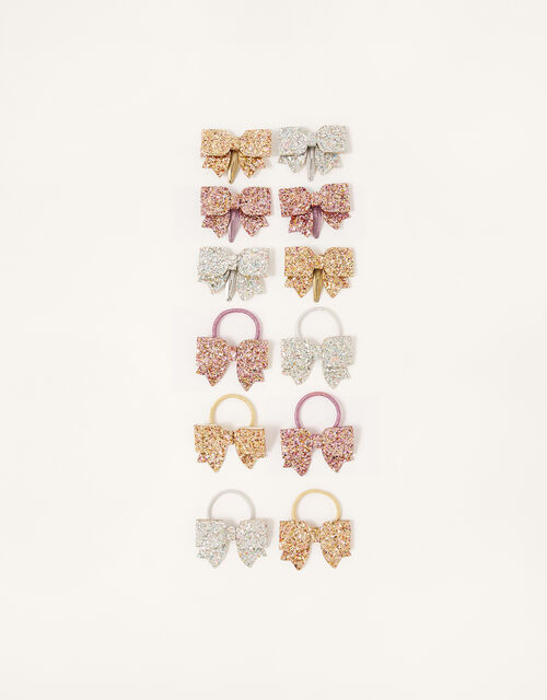Glitter Bow Hair Accessory Set, , large