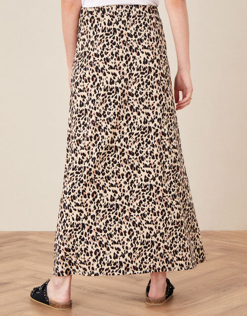 Vikky Animal Print Maxi Skirt, Camel (BEIGE), large