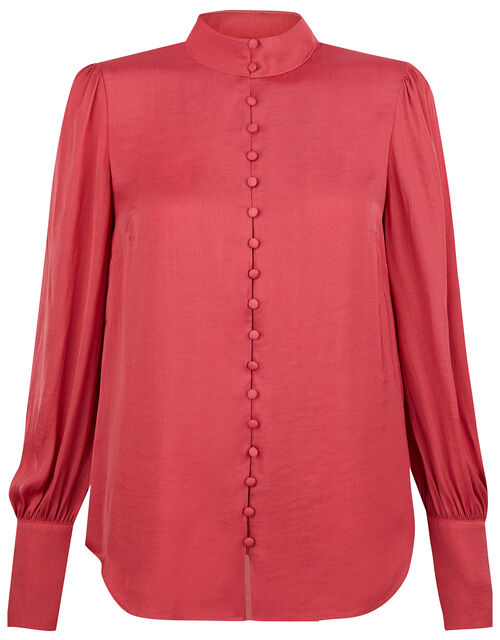 Penny High Neck Blouse, Pink (ROSE), large