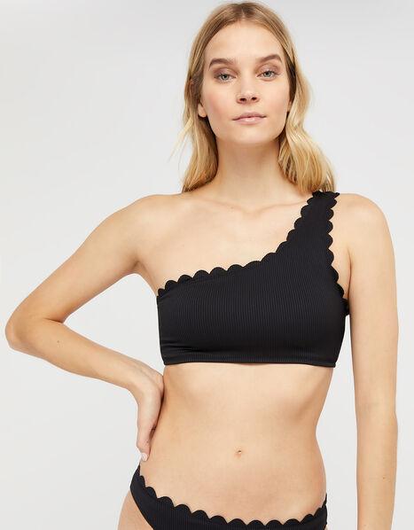 Marosi One-Shoulder Bikini Top with Recycled Polyester Black, Black (BLACK), large